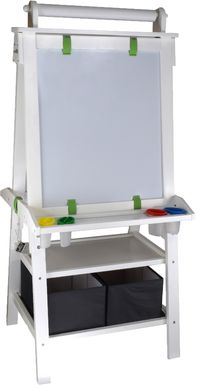 Little Partners White Deluxe Learn and Play Art Center Easel