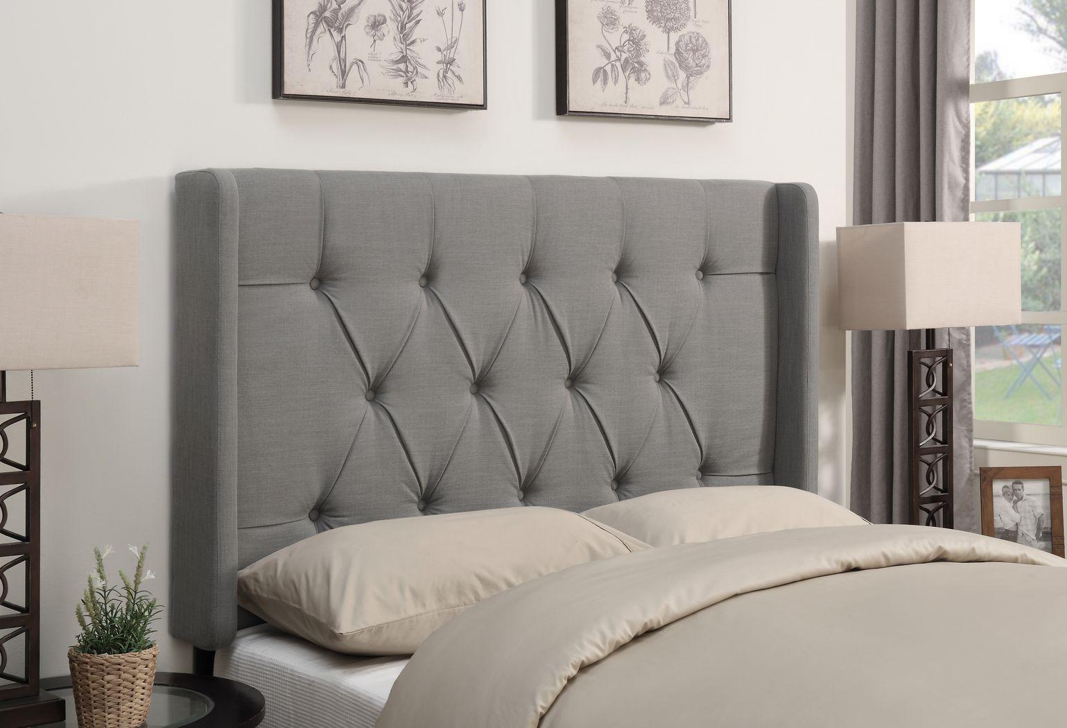 Livia Dove Gray Full/Queen Upholstered Headboard