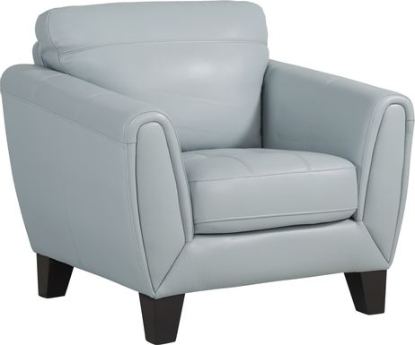 Livorno Lane Aqua Leather Chair