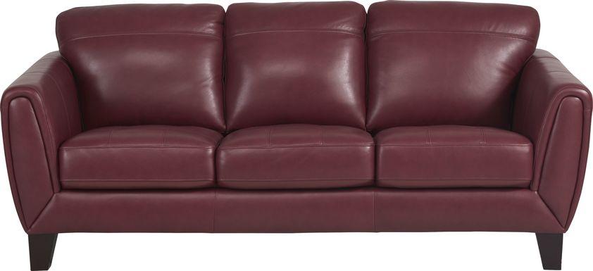 Livorno Lane Red Leather Sofa