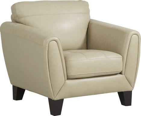 Livorno Lane Stone Leather Chair