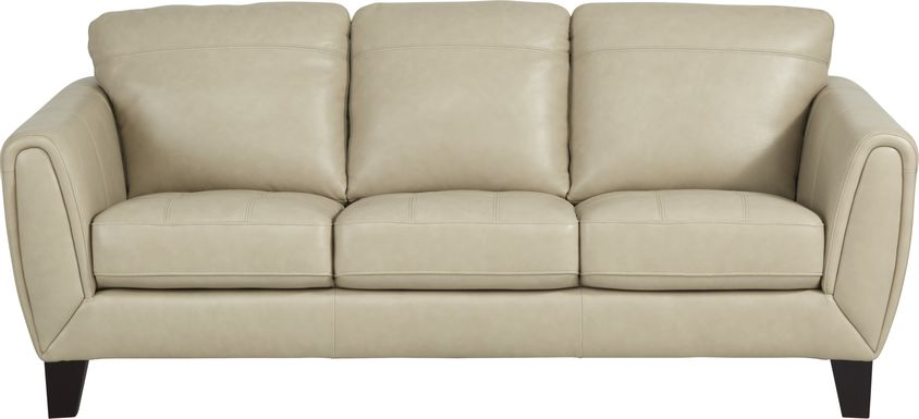 Livorno Lane Stone Leather Sofa