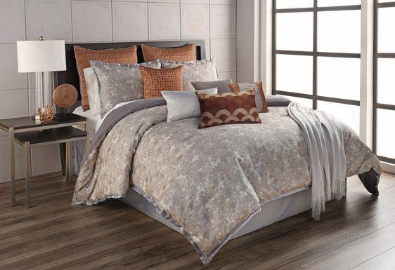 Liyana Gray 12 Pc King Comforter Set