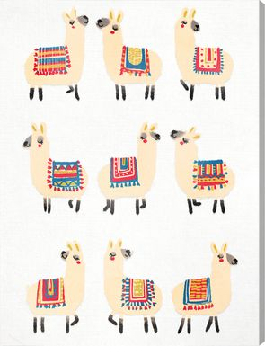 Llama Party Yellow Artwork