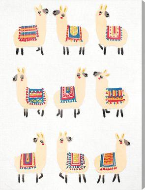 Llama Party Yellow Artwork