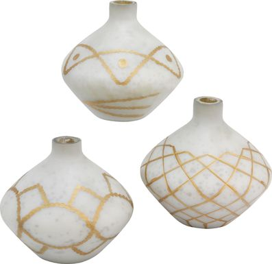 Loane White Vase Set of 2