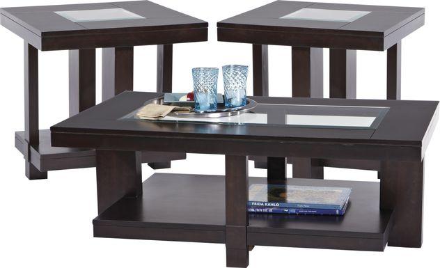 Lochlin Walnut 3 Pc Table Set