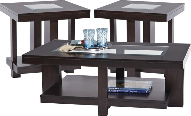 Lochlin Walnut 3 Pc Table Set