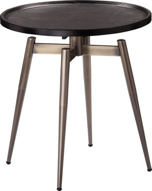 Lockmere Black End Table