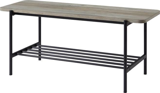 Lockrow Gray Accent Bench