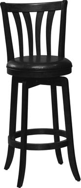 Loddon Black Swivel Counter Height Stool