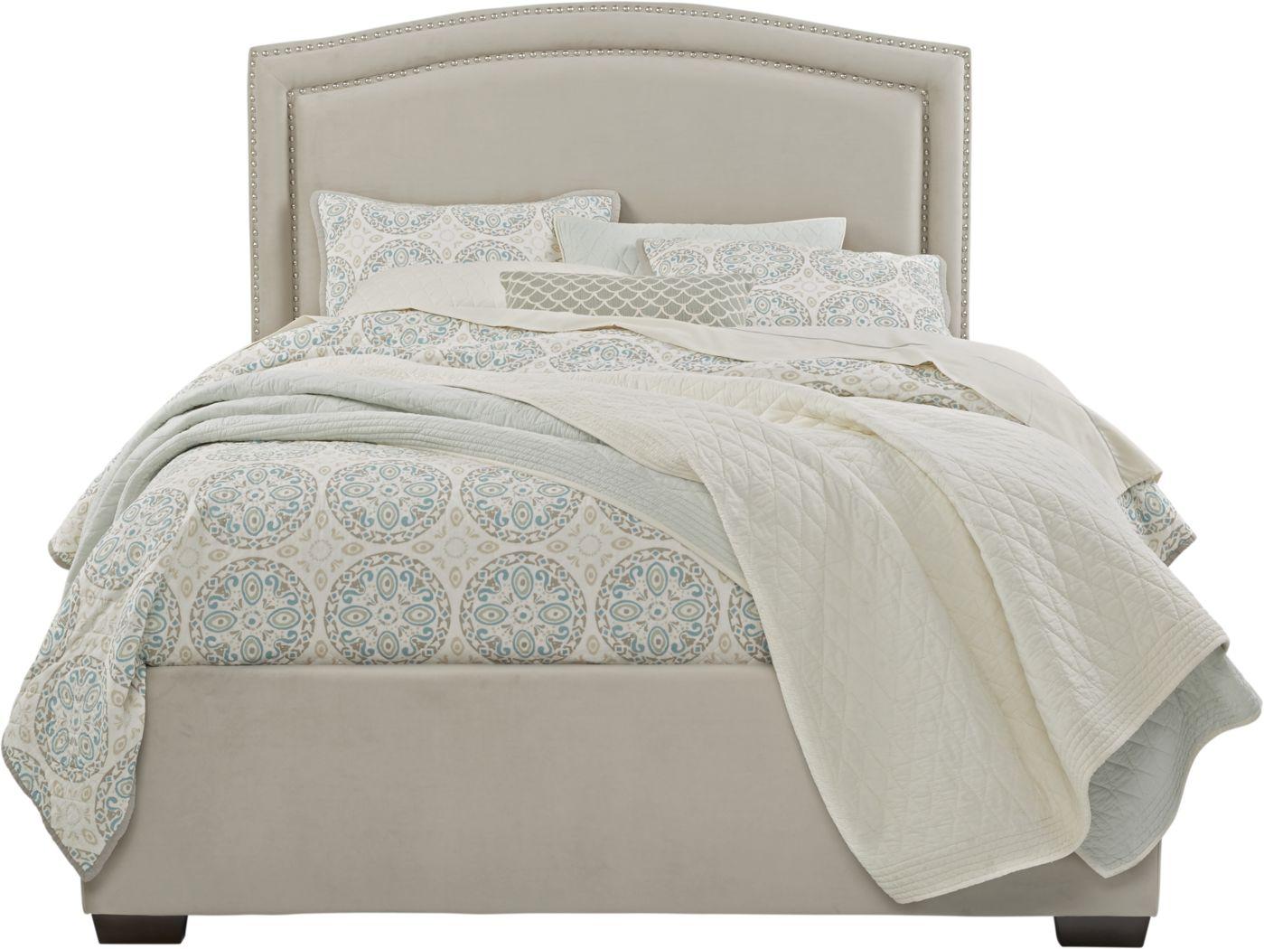 Loden Beige 3 Pc Queen Upholstered Bed