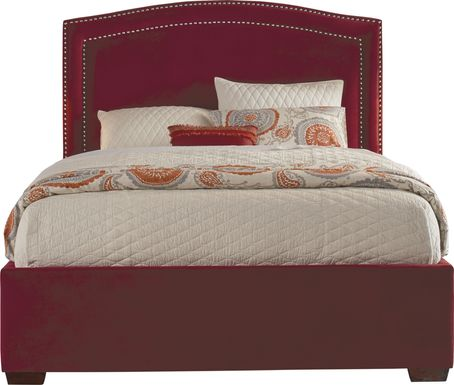 Loden Red 3 Pc Queen Upholstered Bed