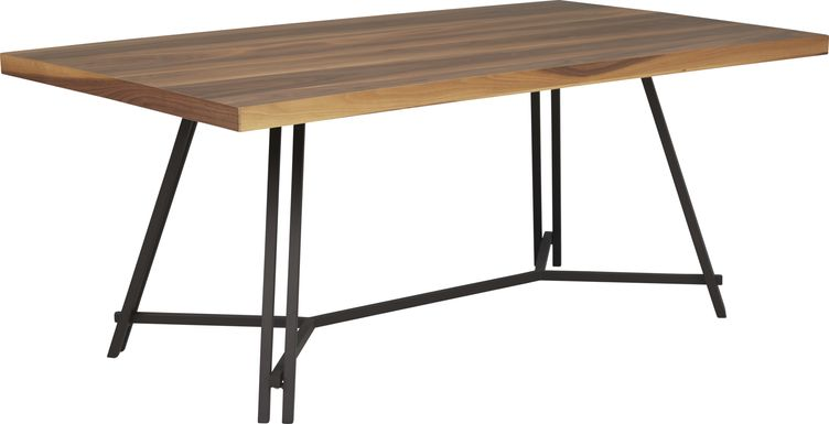 Loft Side Brown Rectangle Dining Table