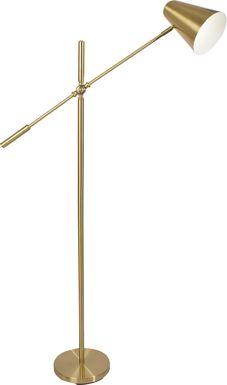 Logan Gate Brass Floor Lamp