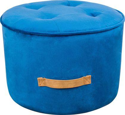 Kids Lomiller Blue Ottoman