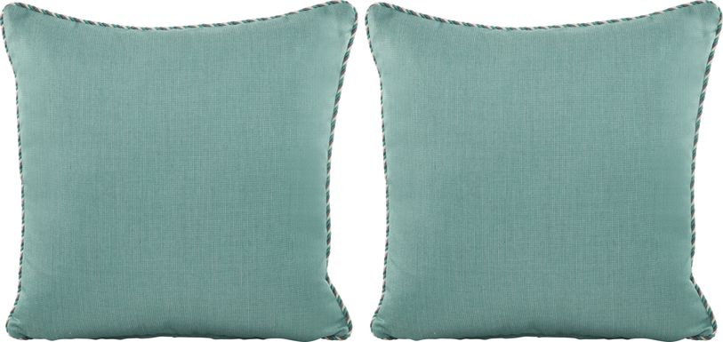 Turquoise Solid Indoor/Outdoor Accent Pillow, Set of Two