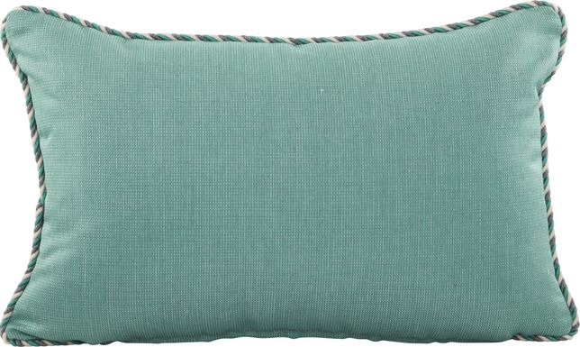 Turquoise Solid Indoor/Outdoor Accent Pillow