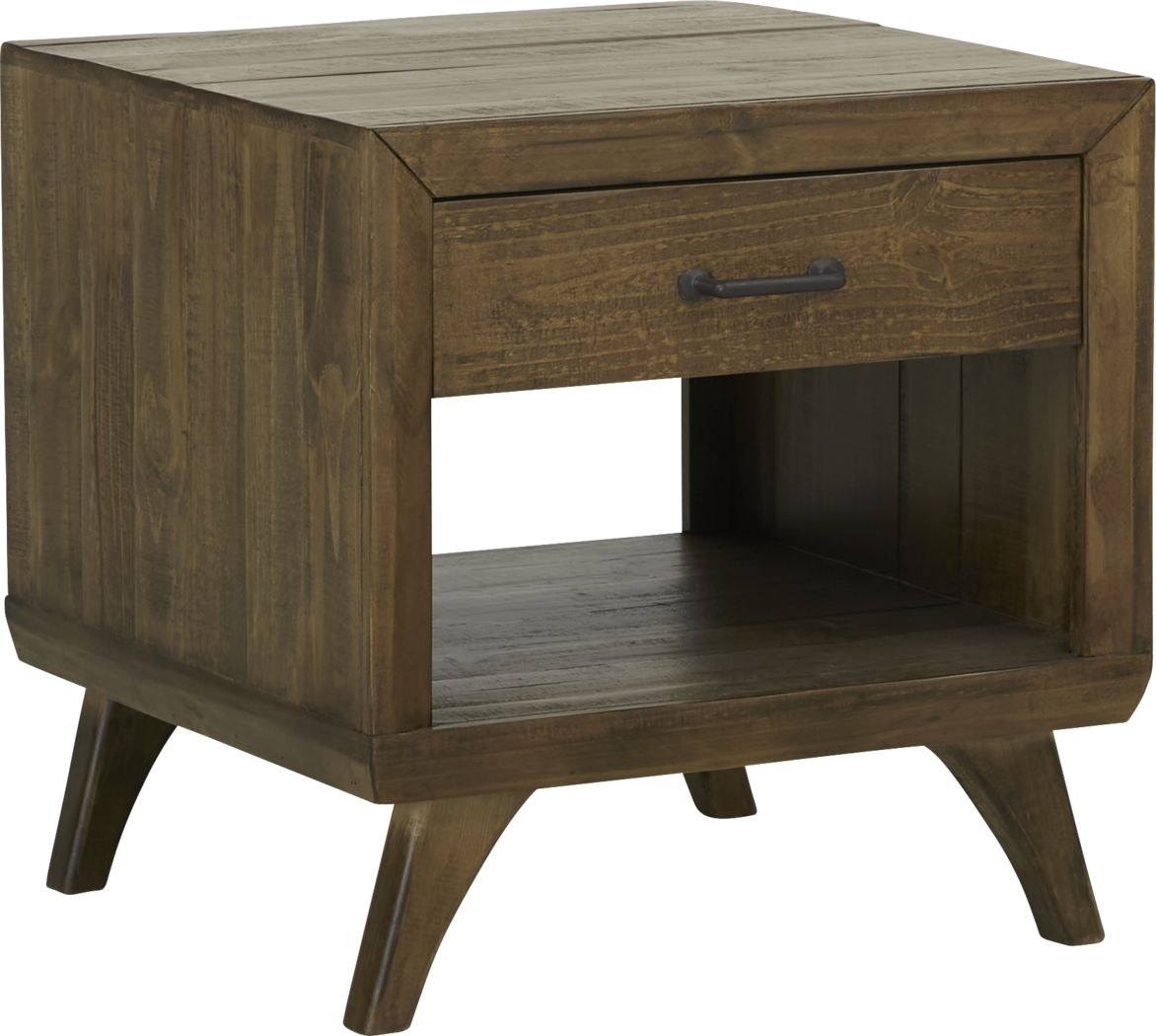 Long Valley Brown End Table