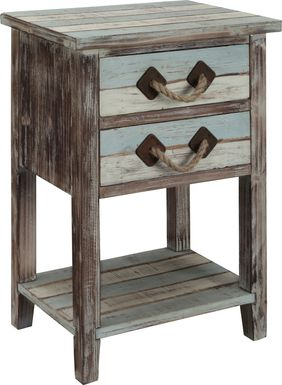 Longboat Key Blue Accent Table