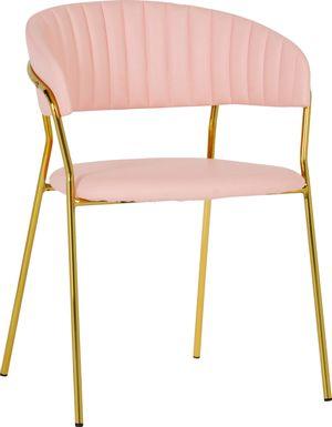 Lorean Pink Arm Chair, Set of 2