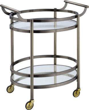 Loreen Bronze Bar Cart
