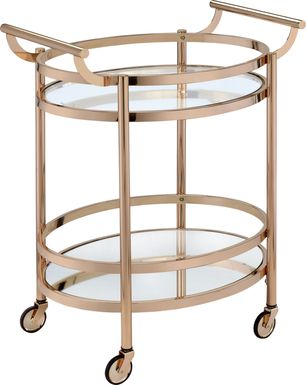 Loreen Rose Gold Bar Cart