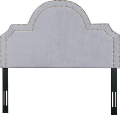 Louella Gray King Upholstered Headboard