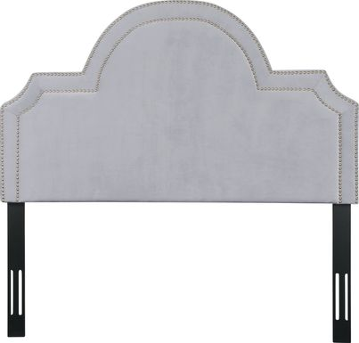 Louella Gray King Upholstered Headboard