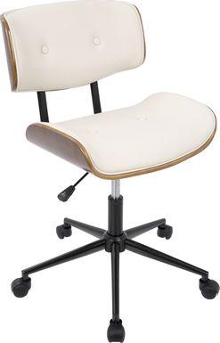 Loxley Cream Adjustable Desk Chair