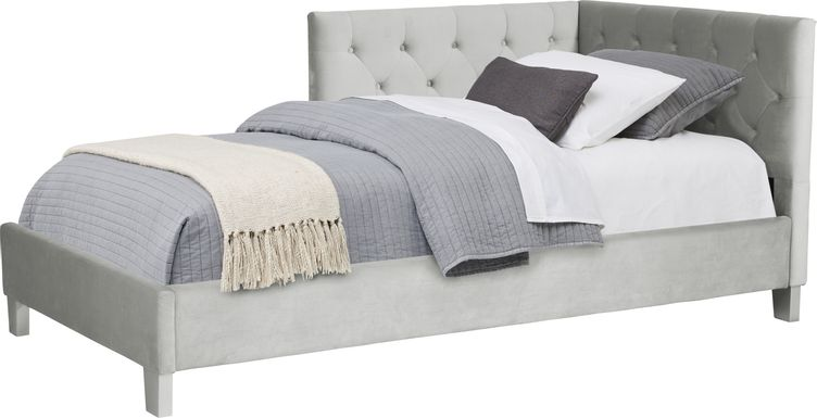 Lucie Silver 3 Pc Full Corner Bed