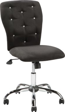 Kids Lucille Black Desk Chair