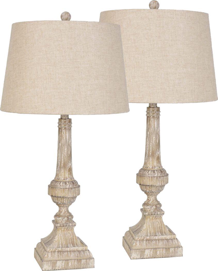 Lucille Loft Brown Set of 2 Lamps