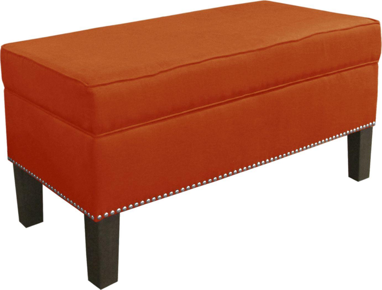 Lucy Lane Tangerine Storage Bench