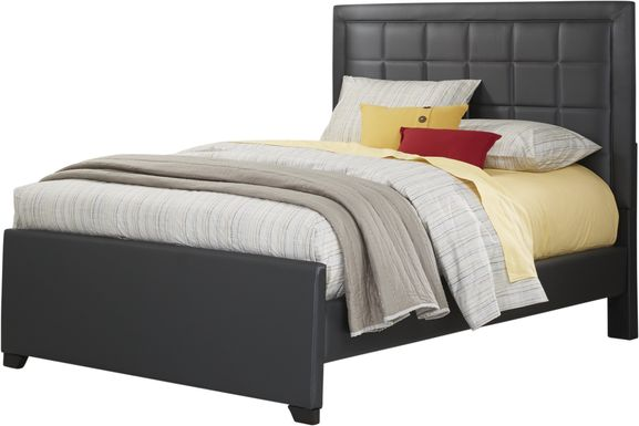 Kids Lugo Black 3 Pc Full Upholstered Bed