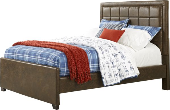 Kids Lugo Brown 3 Pc Full Upholstered Bed
