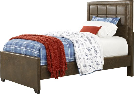 Kids Lugo Brown 3 Pc Twin Upholstered Bed