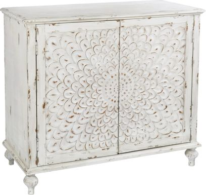 Lula Curve White Accent Cabinet