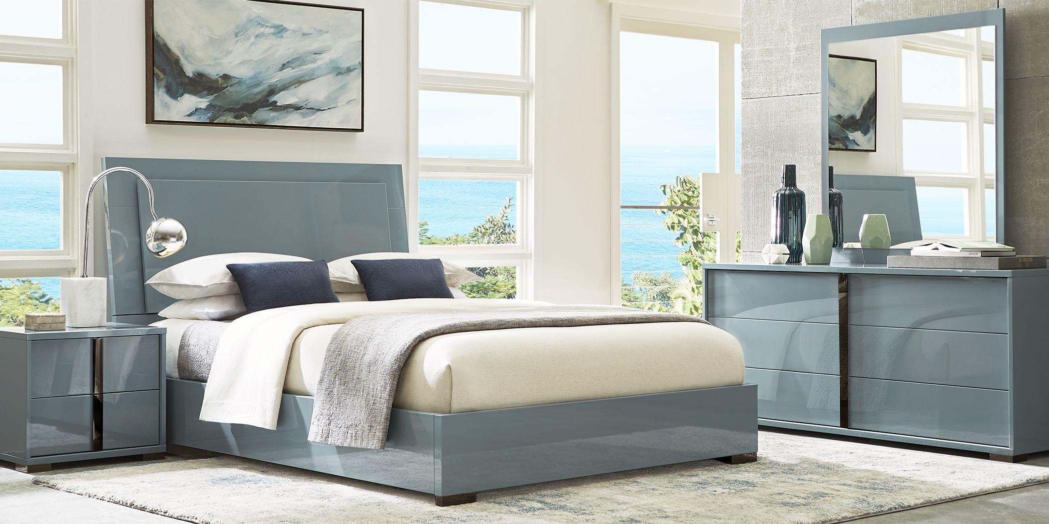Luma Vista Blue 5 Pc King Bedroom
