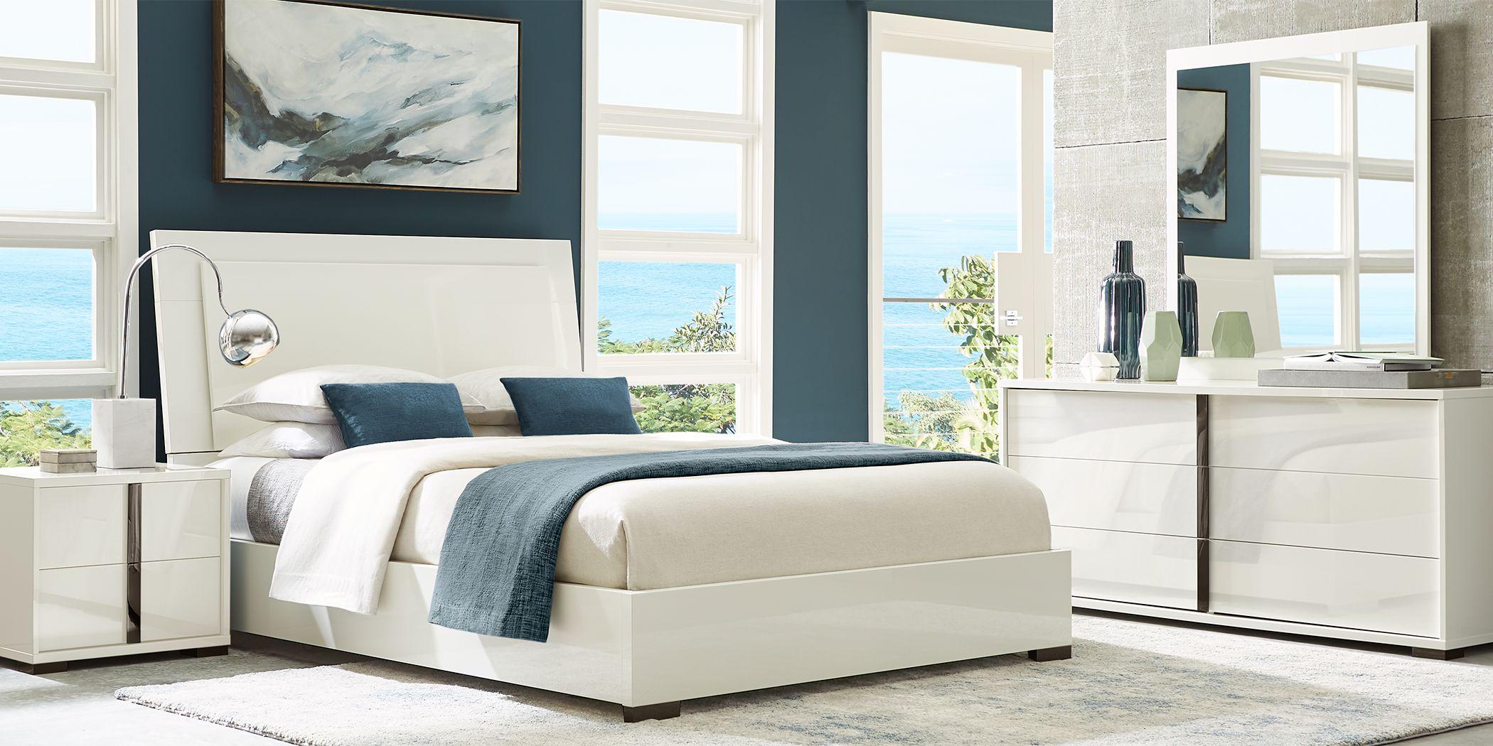 Luma Vista White 5 Pc King Bedroom