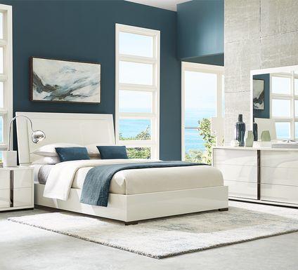 Luma Vista White 7 Pc Queen Bedroom