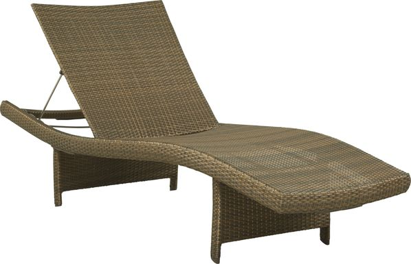 Luna Lake Brown Outdoor Chaise
