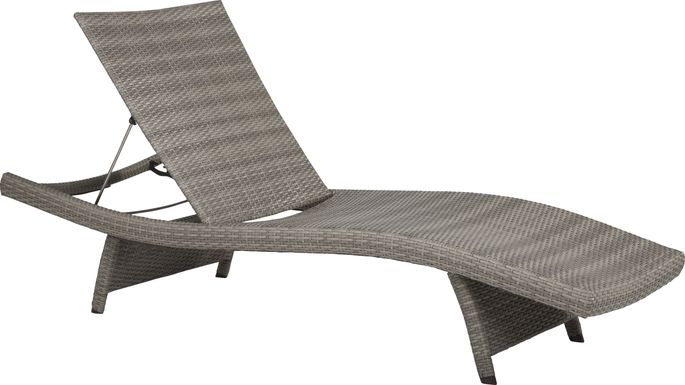 Luna Lake Gray Outdoor Chaise