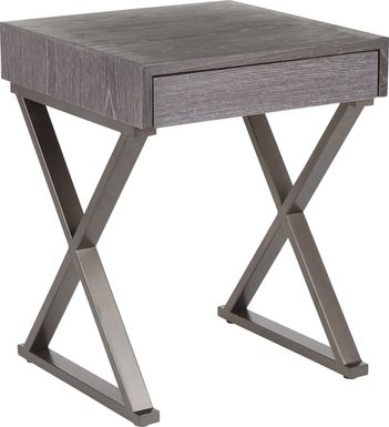 Luster Gray End Table
