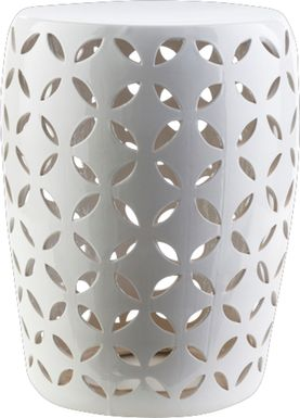 Lwandle White Outdoor Stool