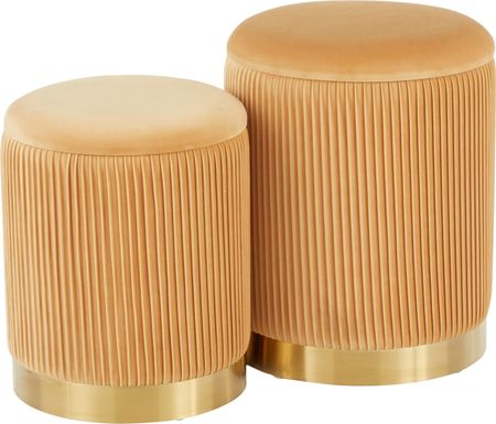 Lyerly Orange Ottoman, Set of 2