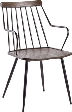 Lyllian Walnut Side Chair