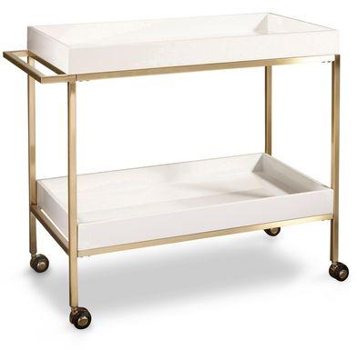 Mabelvale White Bar Cart