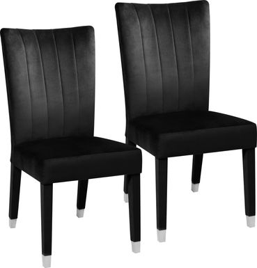 Mabrey Black Side Chair, Set of 2