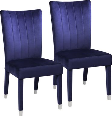 Mabrey Blue Side Chair, Set of 2